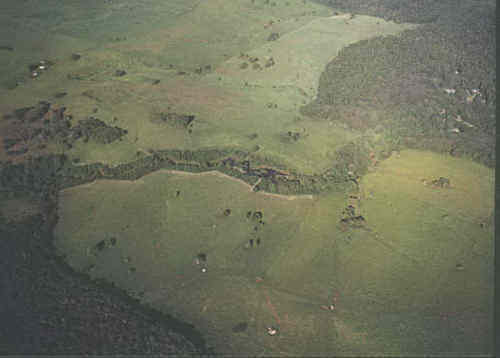 Lake Barrine on the right of the photo and Gadgarra Forest on the left
